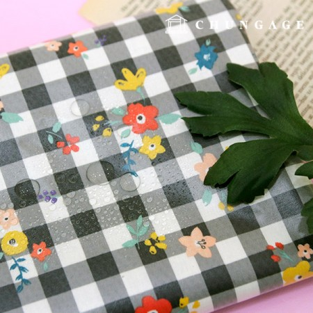 Waterproof cloth laminate Non-toxic TPU waterproof fabric Check mate Flower check pattern