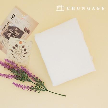 Soft cotton linen wide fabric whiteivory cream milk