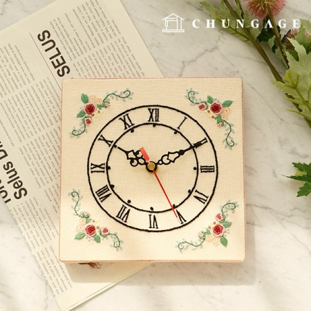 French Embroidery Package Flower DIY Kit French Wall Clock CH-560202 Hobby at Home