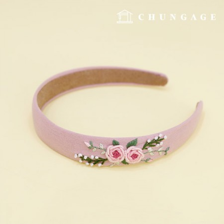 French Embroidery Package Flower DIY Kit Fleur Headband CH-512570 Hobby at Home