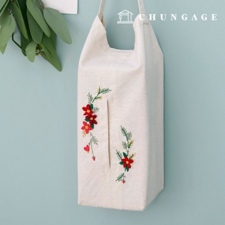 French Embroidery Package Flower DIY Kit Evening Garden Tissue Cover CH-560203 Hobby at Home