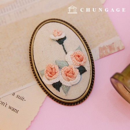 French embroidery package Flower DIY kit florally brooch CH-512572 Hobby at home