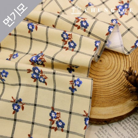 Cotton brushed microfiber check fabric vintage buddy