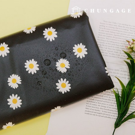 Waterproof Fabric Non-toxic TPU Laminate Fabric Daisy Flower