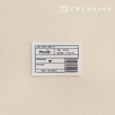 Bifold Label Made Barcode Natural 5ea KL047