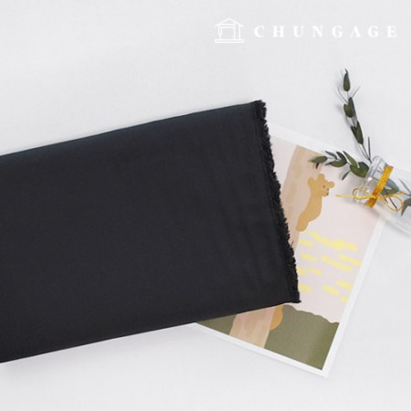 Wide double-woven gabardine fabric antique black