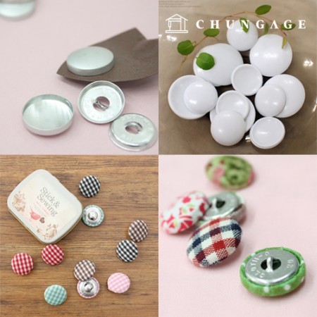 Clothing subsidiary material wrap button making Check coat button White looped collection exhibition