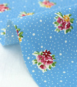 Cotton blend) five kinds of mini Flower (Blue) [2828]
