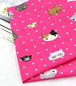 Cotton blend) Mini Cat 5 kinds (Pink) [2832]
