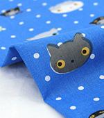 Cotton blend) Mini Cat 5 kinds (Blue) [2833]