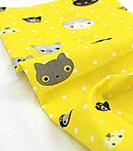 Cotton blend) Mini Cat 5 kinds (Yellow) [2834]