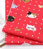 Cotton blend) Mini Cat 5 kinds (Red) [2835]