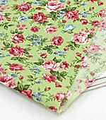 Cotton blend) rose flower three kinds (Green) [2836]