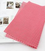Cotton blend) 2mm five kinds of pastel dots (Apricot Pink) [2342]