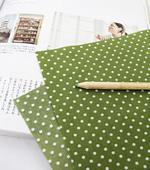 Cotton blend) 2mm pastel dots five kinds (Green) [2345]
