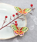 Hwang swallowtail butterfly embroidery (small)