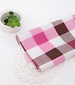 Cotton blend) simple checks four kinds (Pink) [2901]