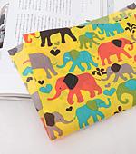Cotton blend) Elephant four kinds (Yellow) [2908]