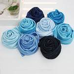 Satin Fabric Span Satin Fabric Bode Blue 7 kinds Frozen Elsa Dress Recommended