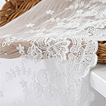 Mesh lace R005 Rassel flower Great white lace