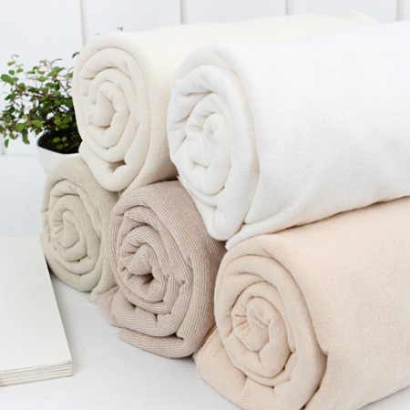 Significantly organic terry towel natural plain 5 color