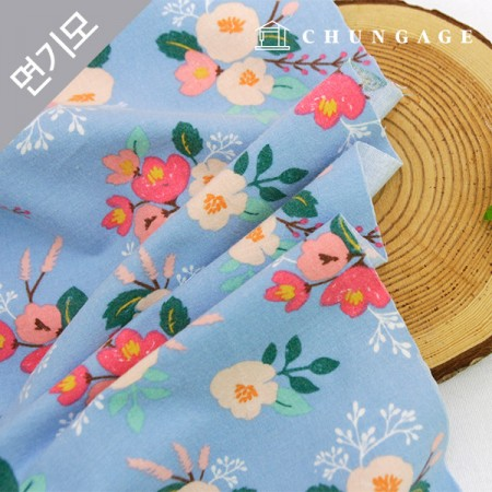 Cotton brushed microfiber fabric Lora Flower