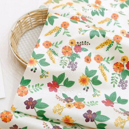 Waterproof fabric laminate Non-toxic TPU waterproof fabric Hailey Flower floral design