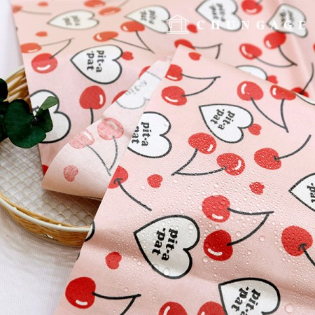 Waterproof fabric laminate Non-toxic TPU waterproof fabric Heart Signal Cherry
