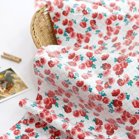 Waterproof Fabric Non-toxic TPU Laminate Fabric Liberty Rose
