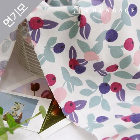 Cotton brushed microfiber fabric, berry mutch