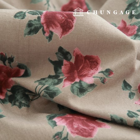 Widely Raised Cotton Country Rose Beige