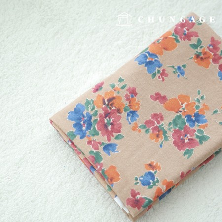 Widely Raised Cotton Country Flower Beige