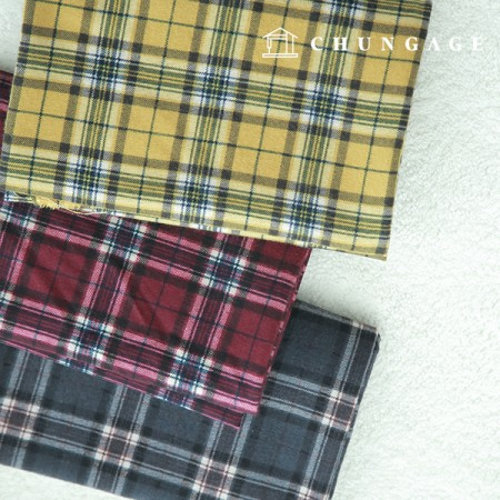 3 types of largely brushed vintage checks