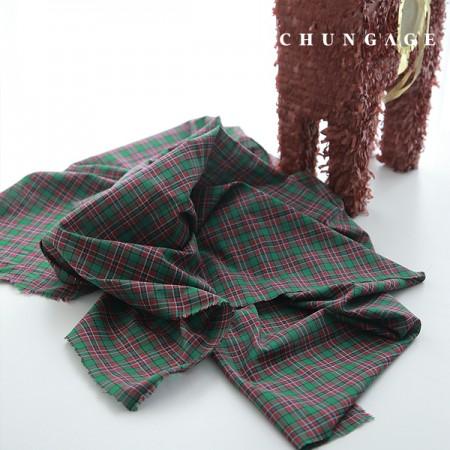 50 Cotton Asa Zen-dye Check Red Green
