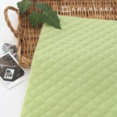 [30% discount 2Hermp] Cotton blend quilted paper) Basic plain 7color (Green) [2556]