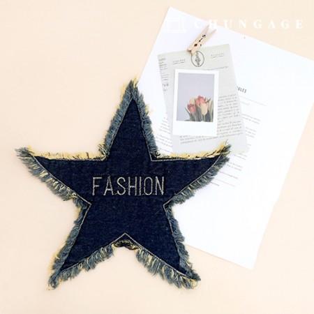 Wapen Patch Sewing Type Wapen Bigsize Blue Wafer Pen Star Tassel Decoration Wapen