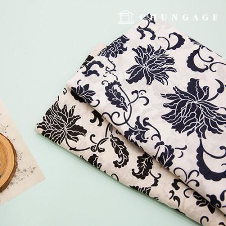 Linen Fabric Cotton Hemp Cotton Linen Fabric Flower Garden 2 types