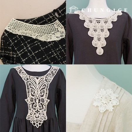 Motif Lace Subsidiary Embroidery Motif Mesh Chemical Home Fashion Lace Motif Collection 1