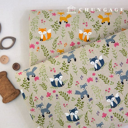 Wide 11 number Linen Fox Forest 2 types