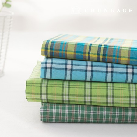 Cotton Fabric Check Fabric Pre-dyed 20 Count Vintage Check Fresh 4 types