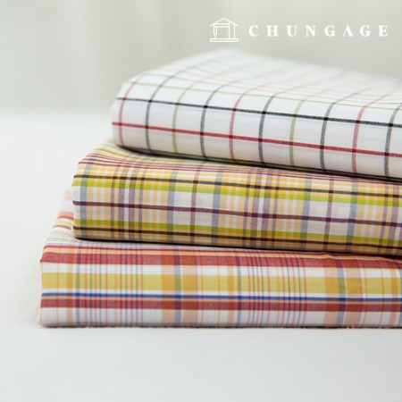 Cotton Fabric Check Fabric Pre-dyed 40 Count Vintage Check Glory 3 types