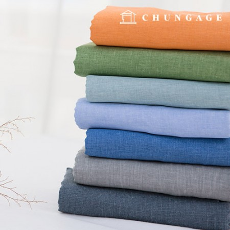 7 kinds of Gauze Linen fabric pigment dyed fabric mellow