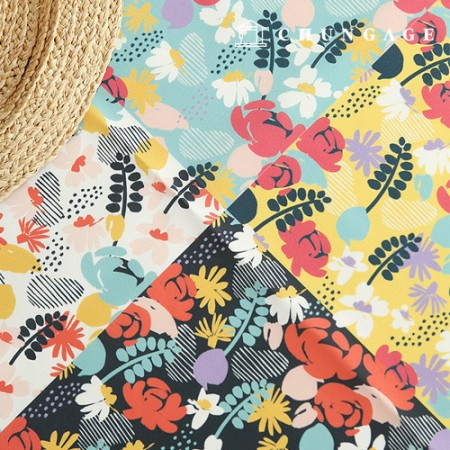 Bag Fabric Bag Paper Lilium Waterproof Cloth Poly Large Flower Pattern Flower Patch 053