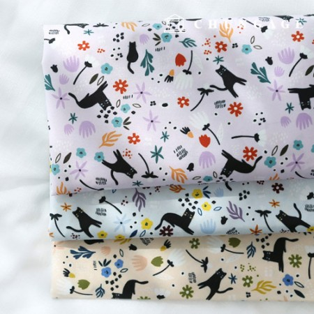 Bag Fabric Bag Leo Flower Waterproof Fabric Poly Large Flower Flower Pattern 3 Types of Animals