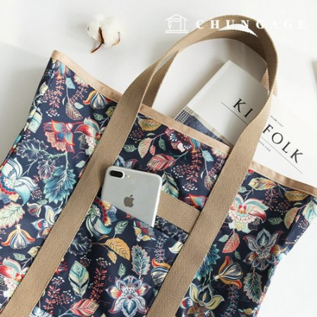 Bag Fabric Bag Paper Ashoka Waterproof Fabric Large Flower Pattern Flower 045