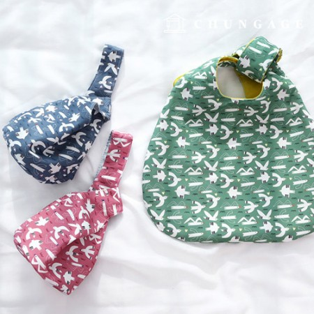 Bag Fabric Bag Paper Camome's Adventure Waterproof Cloth Poly Wide Animal 3 Types