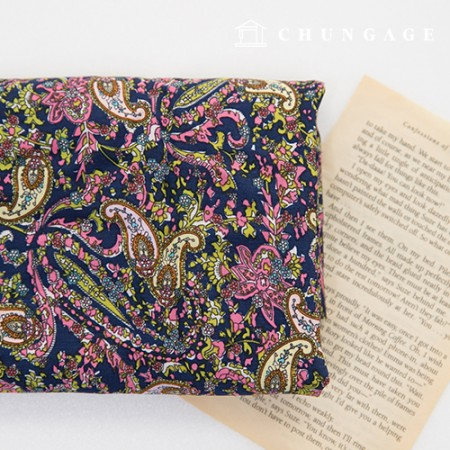 Rayon Silk Fabric Wide Summer Fabric Colorful Paisley