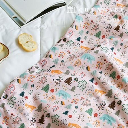 Semi Microfiber Fabric Winter Dreaming Pink Functional Dust Mite Blocking Fabric 005