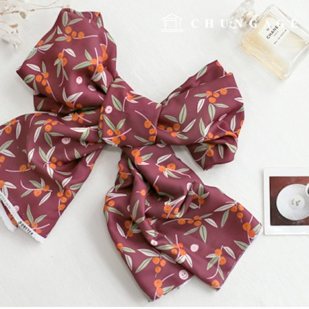 Poly Silk Fabric Silk Supreme Wide 022 Flori Lime Wine