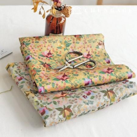 Hanbok Fabric Graceful Poly Hanbok Cloth Cheolrick Flower Floral Pattern 2 Types